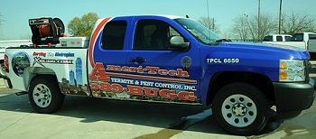 a pest control dallas fort worth truck